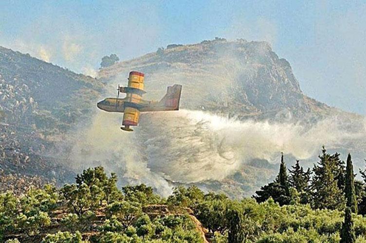 Μεγάλες φωτιές σε Αγαλά και Κοιλιωμένο  στη Ζακύνθο