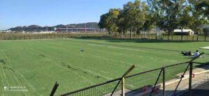 Τοποθετείται ο νέος τάπητας στο γήπεδο των Αμπελοκήπων