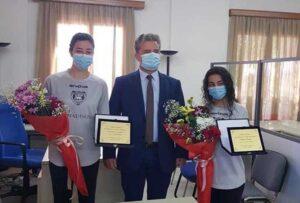Αντιόχου και Μόρφη τίμησε ο Αντιδήμαρχος Αρτεμισίων Χρήστος Πάστρας για την κλήση τους στην Εθνική Νεανίδων