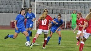 Eθνική Κορασίδων U17: Ήττηθηκε από την Δανία 2-0-Πολύ καλή παρουσία της Αντζελίνας Γρίβα